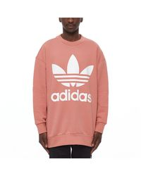 Adidas Originals Pink Crew Sweatshirt for men