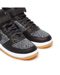 Nike Black Lunar Force 1 Flyknit Workboot for men