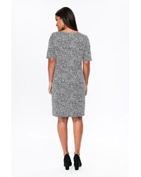 Wallis Black Zipped Shift Dress