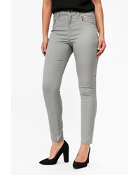 Wallis Gray Grey Fly Front Trouser