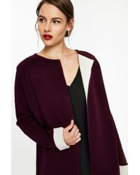 Wallis Purple Berry Contrast Coatigan