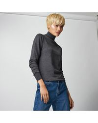 Warehouse | Gray Polo Neck Jumper | Lyst
