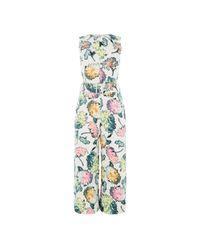 Warehouse - Multicolor Decoupage Jumpsuit - Lyst