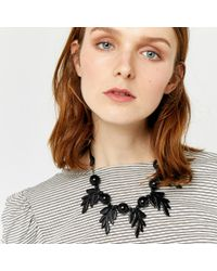 Warehouse   Black Leaf Statement Necklace   Lyst