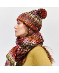 Warehouse Multicolor Multi Chunky Knit Hat