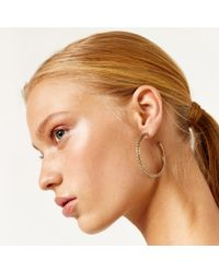 Warehouse - Metallic Etched Hoops - Lyst
