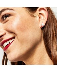 Warehouse   Multicolor Triangle Mix Earring 5 Pack   Lyst