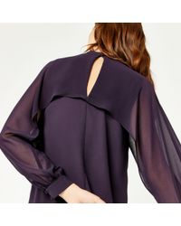Warehouse - Purple Layered Cape Top - Lyst