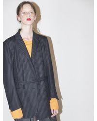 Bouton - Blue Belted Mens Blazer - Stripe - Lyst