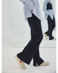 COLLABOTORY - Blue Baama6005m Navy Pin Stripe Slit Bell Pants - Lyst
