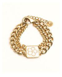 VERT BERRY - Metallic Sakura Blossom Chain Bracelet_white - Lyst