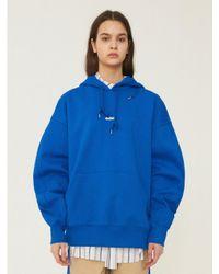 ADER ERROR Ade Hood Tee Shirt Blue