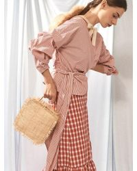 AWESOME NEEDS - Multicolor Raffia Burning Bag Square - Lyst