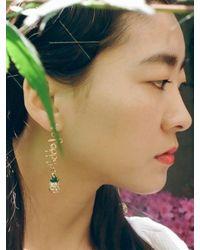 VON DITOLE | Metallic T R O P I C S Fine Gold Earring | Lyst
