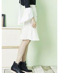 Blank - White Button Slit Skirt Wh - Lyst