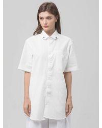 SOPHY&TAYLOR White [wxo] [unisex] Reversed Shirts
