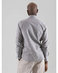 SOPHY&TAYLOR Gray [wxo] Camouflage Patchwork Shirts Grey for men