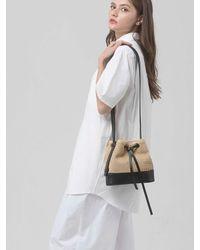 SOPHY&TAYLOR Natural [wxo] Bucket Bag (beige Rattan)