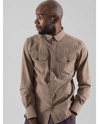 SOPHY&TAYLOR Natural [wxo] Round Callar Tail Shirts Beige for men