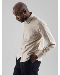 SOPHY&TAYLOR Natural [wxo]rotate Pocket Shirts for men