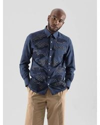 SOPHY&TAYLOR Blue [wxo] Camouflage Patchwork Shirts Navy for men