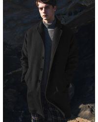 F.ILLUMINATE [unisex] Oversize Single Cash Coat-black for men