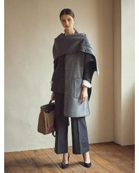 REKNOTE - Gray L Armor Wool Reversible Cape Charcoal Grey - Lyst