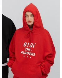 W Concept - [unisex] Flippers Hoodie_red - Lyst