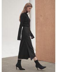 NILBY P - Black Winter Wrap Skirt - Lyst