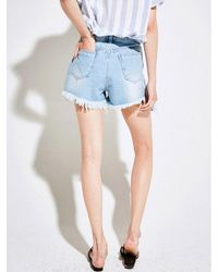 YAN13 - Blue Coolish Short Pants_denim - Lyst