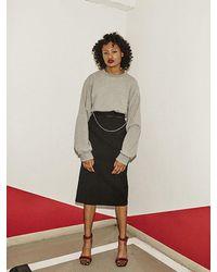 Fleamadonna Black Ribbon H Skirt 2 Color