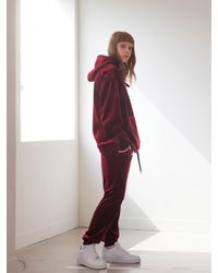 TARGETTO - Multicolor Velvet Training Pants Burgundy - Lyst