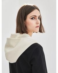 COLLABOTORY Multicolor Hooded Scarf In Cream