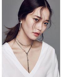 W Concept - Metallic Antique Cross Chain Necklace - Lyst
