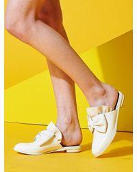 W Concept - White Frillnribbon Sloafer - Lyst