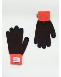 W Concept Heritage Smart Glove Qs Brown