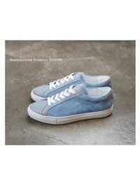SHOBONYATA Blue Needlepointed Sneakers S3132sb