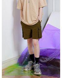 APPARELXIT Multicolor Tech Half Banding Cargo Pants Khaki for men