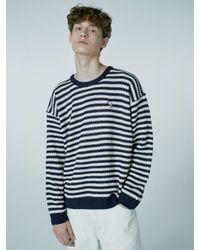 WAIKEI Blue Steady Stripe Knit Sweater