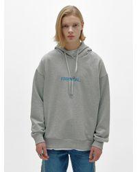 Add Gray Essential Logo Hoodie for men