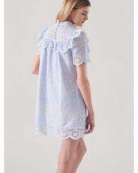 Blanc & Eclare - Blue Atlas Dress Ss3542st - Lyst