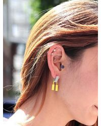 AOULIN - Yellow Soft Ice Cream Earring - Lyst