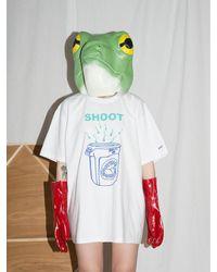 CLUT STUDIO - Shoot Into Trash Half T-shirt - White - Lyst