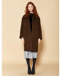 W Concept   Multicolor Tailored Coat_khaki   Lyst