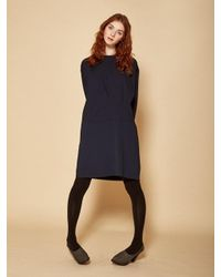 W Concept | Blue Pin Tuck Dress | Lyst
