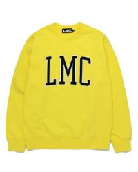 W Concept - Lmc Arch Logo Sweatshirt Lemon Yellow for Men - Lyst
