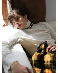 MUNN - Multicolor White Knit Turtleneck Sweater for Men - Lyst