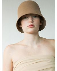 AWESOME NEEDS [unisex] Lambs Half Round Bucket Hat_brown