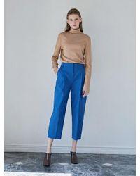 W Concept Signature Pants Blue