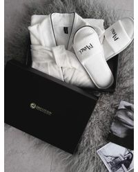 W Concept - [gift Set] White Shower Gown+ Slipper Set - Lyst